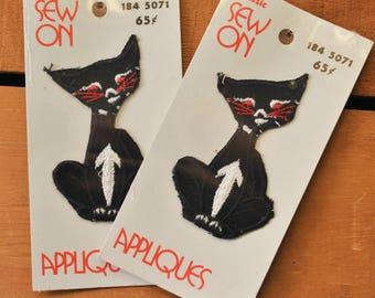 Vintage Black Cat Applique