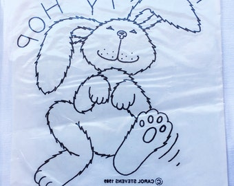 Vintage | Easter Bunny | Color In | Iron On | Fabric Transfer