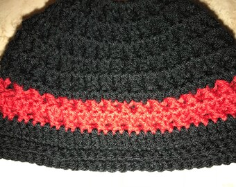 Back the Red Adult/teen Messy Bun Hat