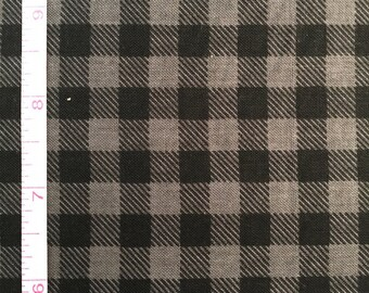 Charcoal and Black Watch Plaid from the Burly Beavers Collection by Andie Hanna for Robert Kaufman Fabrics