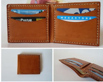 Leather man wallet, small wallet, card holder, gift for him,