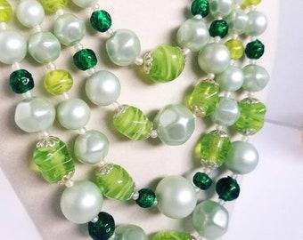 Vintage Multi-strand Japan glass bead necklace