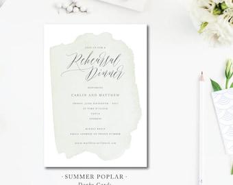 Summer Poplar Printed Rehearsal Dinner | Wedding Rehearsal Dinner or Party Invitation |  Printed or Printable by Darby Cards