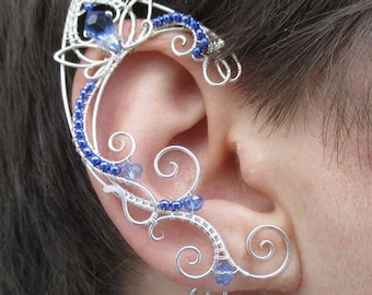 Pair of elven ear cuffs Galactic ghost