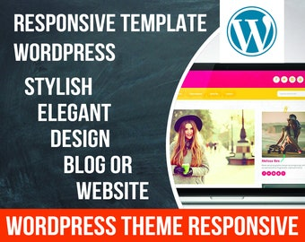 Elegant WordPress theme, responsive wordpress template, wordpress blog,  wordpress design template, wordpress website,  feminine wordpress