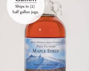 Mansfield Maple 1 Gallon Pure Vermont Maple Syrup in Glass Bottle (Choice of Grade)