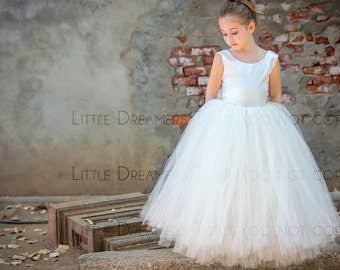 The Juliet Dress in Ivory - Flower Girl Tutu Dress