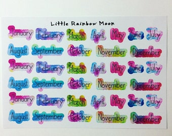 Months of the year stickers