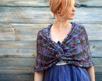 The Claddagh Wrap ~ Hand Knit Shawl - Merino Shawl - Wool Shawl - Spring Shawl - Purple Shawl - Women Shawl - Wedding Shawl - Amy LaRoux