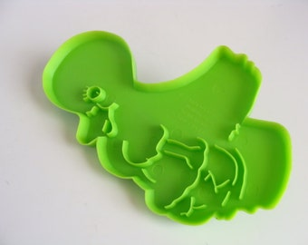 Vintage Wilton Large Green Duck Imprint Cookie Cutter