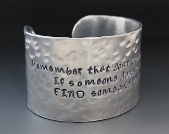1.5 inch Wide Personalized Custom Silver Cuff Bracelet / Wide Silver Bracelet / Personalized Jewelry /Gifts for Her / Valentine's Day Gifts