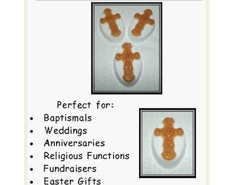 Oatmeal Milk and Honey Soap, Cross Soap, Baptismal Favor, Wedding Favor, Religious Favor, Confirmation Favor, Cross Favor, Religious Gift