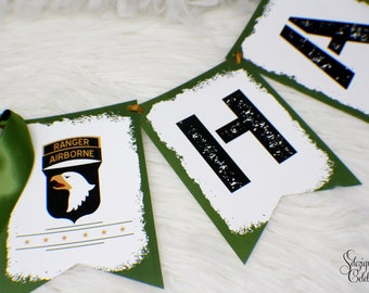 Army Banner, Army Party Banner, Military party banner, Hanging Banner - PLEASE READ INSTRUCTIONS before purchasing