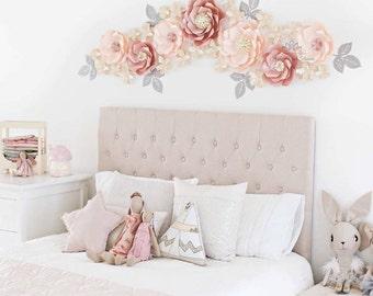 MISS MIA paper flowers backdrop/Paper flower wall/Wedding Backdrop/Backdrop /Baby shower/Baby shower/Sweet table/Christening /Dessert table