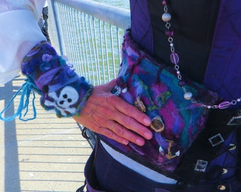 Felted Pirate Wrist Bands
