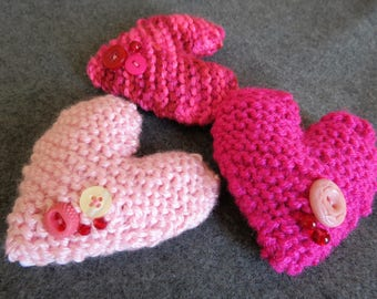 Lavender Scented Knit Hearts