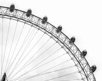 Mind's Eye Print, London Eye Print, Ferris Wheel Print, Ferris Wheel Art