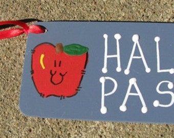 Teacher Gifts Hall Pass w/apple