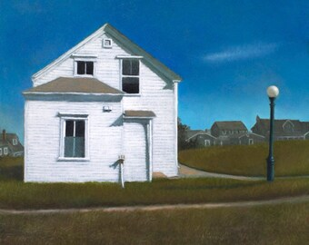 """Giclee, archival print of the painting """"Rose Cottage"""" signed by the artist."""