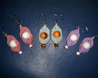 Handmade earrings with different colors