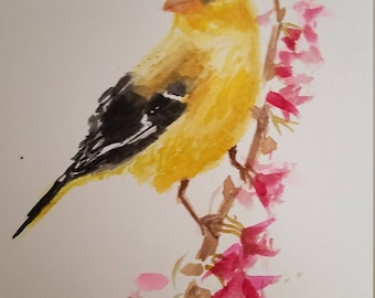 Watercolor bird original