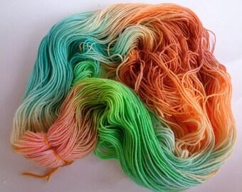 Hand Dyed Yarn, Mermaid - SW Merino/Nylon Fingering Wt.