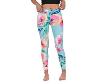 Floral Leggings Workout leggings Women Leggings yoga Leggings Fashion Leggings