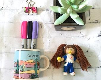 Vintage Arizona Desert Souvenir Mini-Mug (1980s/1990s)