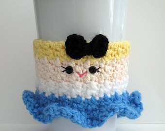 Crochet Alice in Wonderland Coffee Cup Cozy