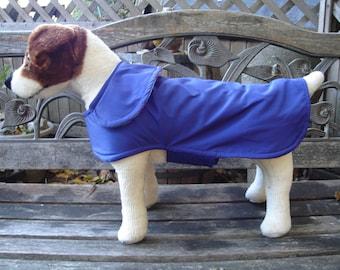 Royal Purple Dog Raincoat - Size Small 12-14 Inch Back Length - Or Custom Size
