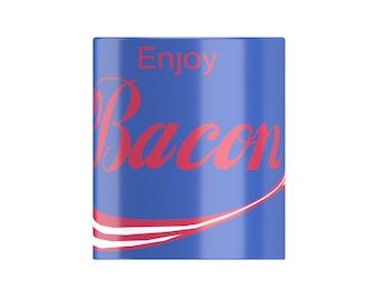 ENJOY BACON- famous fizzy pop parody, rasher loving Mug From FatCuckoo DM1203