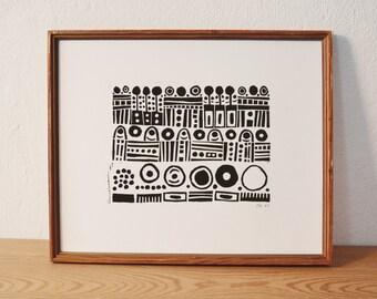 pattern · original linocut · Limited Edition · DIN A4
