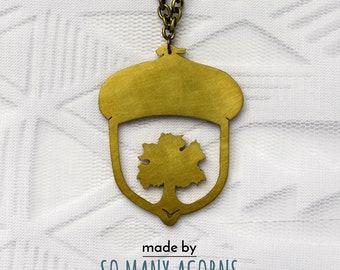 Acorn Oak Necklace