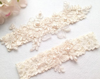 Wedding Garter , Tossing Garter, Keepsake Garter, bridal garter, champagne lace garter,-C05#