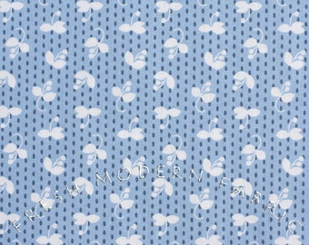 Half Yard Madrona Road Sprout in Blue, by Violet Craft for Michael Miller Fabrics, 100% Cotton Fabric