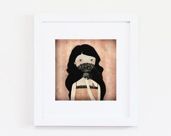 L'Eventail (pink edition) 16/50 - Deluxe Edition Print - Whimsical Art