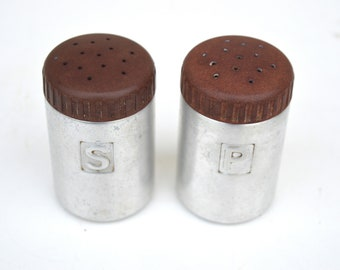 Reed Aluminum Salt and Pepper Shakers