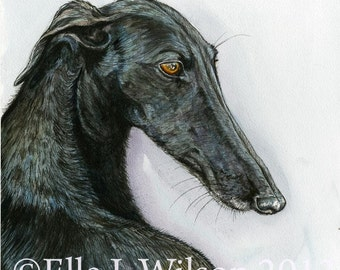 Meant to be with you- Greyhound Art Dog Print - 9 x 9 inch