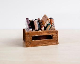 Doll house miniature furniture ceramic book, ceramic books in a box, Doll house furniture, Antique miniature books, Dolls house furniture