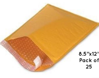 "Kraft Bubble Mailer, 8.5"" x 12"", Lightweight Padded Envelopes, Self Sealing, Bubble Envelopes, Paper Mailers"