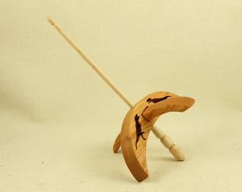 Cut-out T-rex Turkish Drop Spindle