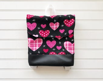 Valentine Tiny Pack - Be Mine - Valentines Day Small Backpack - Toddler Backpack - Tiny Backpack - Toddler Bag - Backpack - Hearts