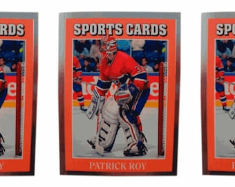 3 - 1991 Sports Cards #11 Patrick Roy Hockey Card Lot Montreal Canadiens
