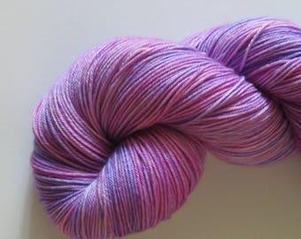 Hand dyed sock yarn, 4 ply