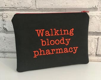 Walking Bloody Pharmacy Zip Pouch, First Aid Kit Bag