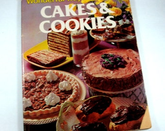 Vintage Cookbook, Cakes And Cookies, Recipe Book, Cooking Desserts, 1970's  (237-10)