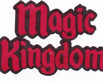 MAGIC KINGDOM Title Disney World Vacation Disney Scrapbook Magic Kingdom Paper Piecing Disney Die Cuts | Magical
