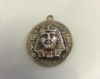 Silver King Tut pendant detail front and back !