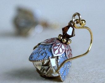 Flower Earrings, Dangle Earrings, Gift For Her, Gift For Girlfriend, Anniversary Gift, Gift For Wife, Romantic, Bridesmaid Jewelry, Summer