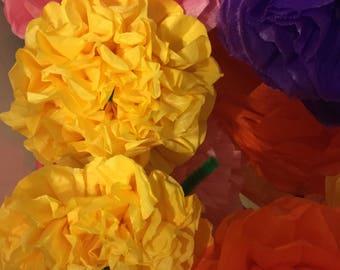 Cinco de Mayo Fiesta paper flowers(12count)